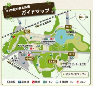 21Cの森と広場マップ