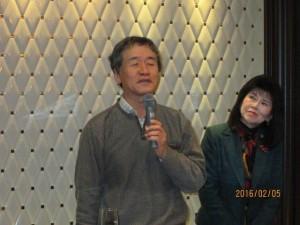 上田先生乾杯のご挨拶