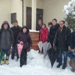 s_雪の日のゼミ全員集合
